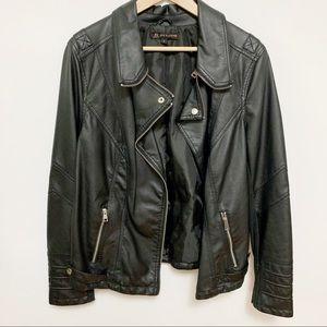 Love & Legend Faux-Leather Biker Jacket